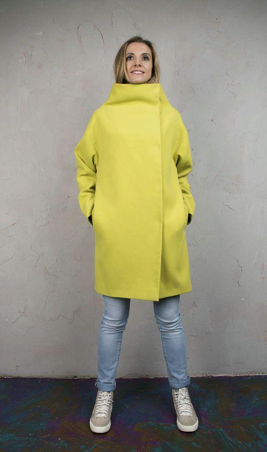 Верхняя одежда ручной работы. Ярмарка Мастеров - ручная работа. Купить Пальто демисезонное. Пальто кокон. Пальто оверсайз.. Handmade.