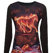 """Одежда ручной работы. Ярмарка Мастеров - ручная работа Джемпер """"Огненная лошадь"""". Handmade."""