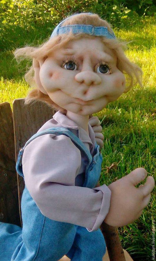 Коллекционные куклы ручной работы. Ярмарка Мастеров - ручная работа. Купить Тимоха. Handmade. Голубой, детство