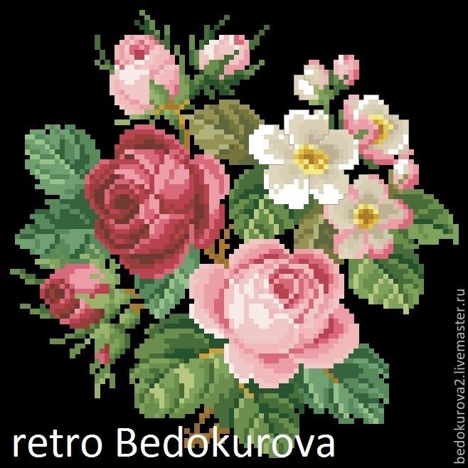 Купить Ретро схема Роза 7