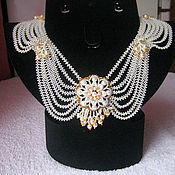 Украшения handmade. Livemaster - original item Choker flower pearl. Handmade.