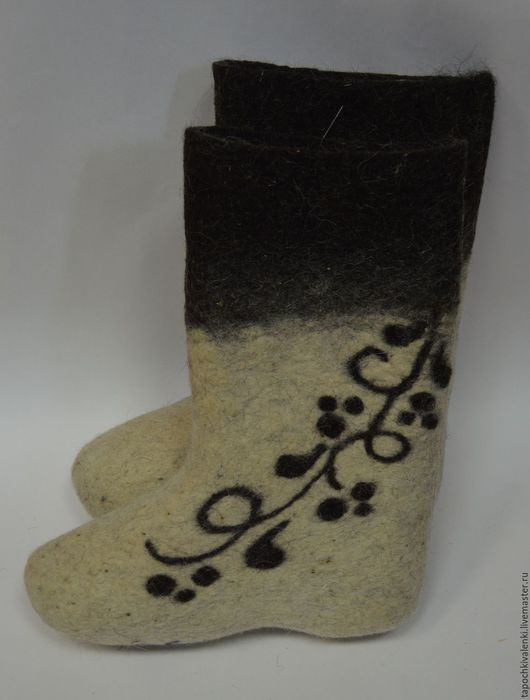 Обувь ручной работы. Ярмарка Мастеров - ручная работа. Купить Валенки с дизайнерским рисунком 37р. Handmade. Полуваленки, качественные валенки