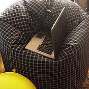 """Для дома и интерьера ручной работы. Ярмарка Мастеров - ручная работа Кресло-мешок """"Мужская классика"""". Handmade."""