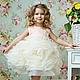 Одежда для девочек, ручной работы. Ярмарка Мастеров - ручная работа. Купить Платье роза любви-карамель. Handmade. Бежевый