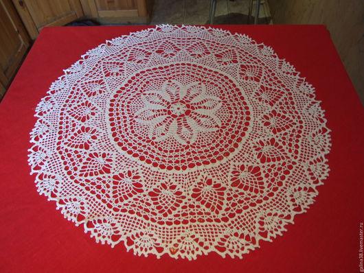 Текстиль, ковры ручной работы. Ярмарка Мастеров - ручная работа. Купить Мини-скатерть ажурная 6. Handmade. Скатерть вязаная