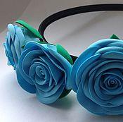 Украшения ручной работы. Ярмарка Мастеров - ручная работа Ободок с тремя розами. Handmade.