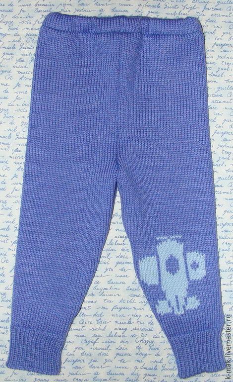 """Одежда для мальчиков, ручной работы. Ярмарка Мастеров - ручная работа. Купить Штаны вязаные детские """"Самолет"""". Handmade. Синий"""
