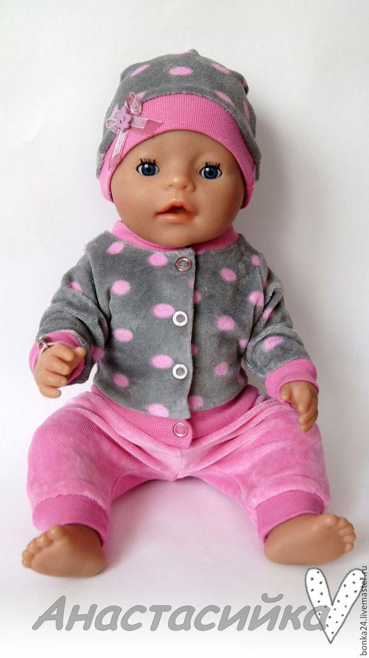 Одежда для кукол ручной работы. Ярмарка Мастеров - ручная работа. Купить Комплект для Беби Бон Горошки. Handmade. Комбинированный