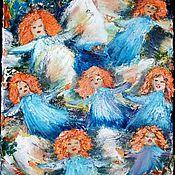 """Картины и панно ручной работы. Ярмарка Мастеров - ручная работа """"Полёт рыжих феечек"""". Handmade."""