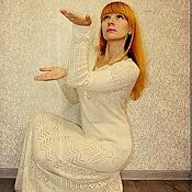 """Платья ручной работы. Ярмарка Мастеров - ручная работа Вязаное кашемировое  платье """"Винтажная нежность"""". Handmade."""