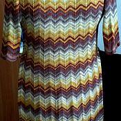 Одежда ручной работы. Ярмарка Мастеров - ручная работа платье вязаное дизайном Миссони. Handmade.