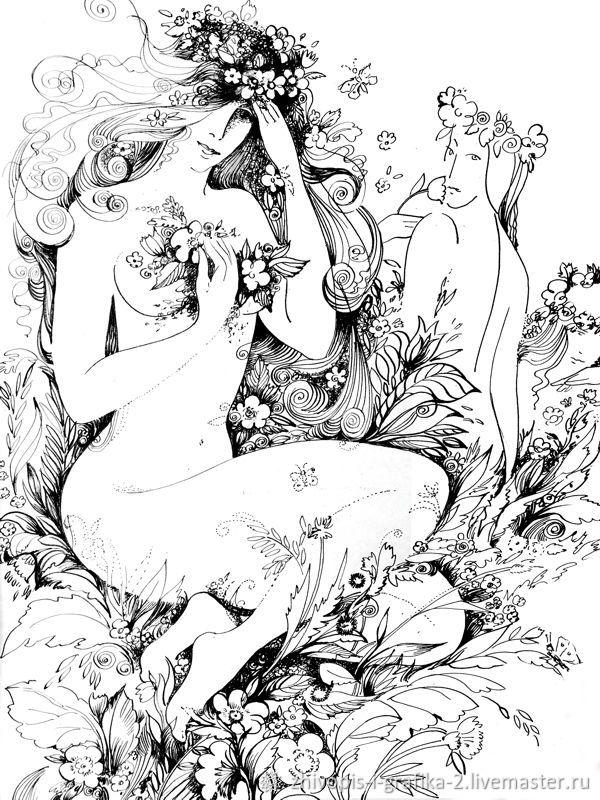 Лето – купить на Ярмарке Мастеров – NO41YRU | Иллюстрации и рисунки, Ростов-на-Дону