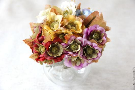 """Открытки и скрапбукинг ручной работы. Ярмарка Мастеров - ручная работа. Купить Цветы """"винтажные"""" тканевые (5 расцветок), 3 шт.. Handmade."""