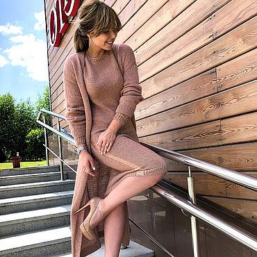 Одежда ручной работы. Ярмарка Мастеров - ручная работа Комплект кардиган и платье - цвет и размер любые. Handmade.