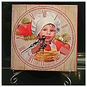 Для дома и интерьера handmade. Livemaster - original item wall clock little chef. Handmade.
