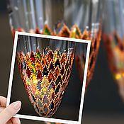 """Посуда ручной работы. Ярмарка Мастеров - ручная работа Пара бокалов """"Арлекин"""". Handmade."""