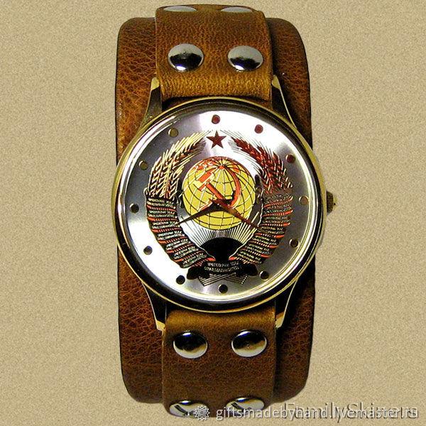 Часы наручные - СССР . Герб СССР, Часы наручные, Москва,  Фото №1