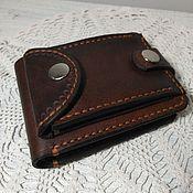 Кошельки ручной работы. Ярмарка Мастеров - ручная работа Портмоне 005 с наружным карманом для мелочи или визиток. Handmade.