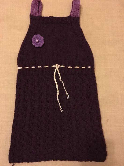 Платья ручной работы. Ярмарка Мастеров - ручная работа. Купить Сарафан вязанный. Handmade. Дети, спицы, вяжу на заказ