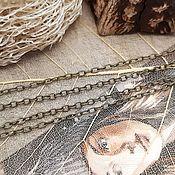 Материалы для творчества handmade. Livemaster - original item Chain thin 2 x 1,5 mm bronze (2685). Handmade.
