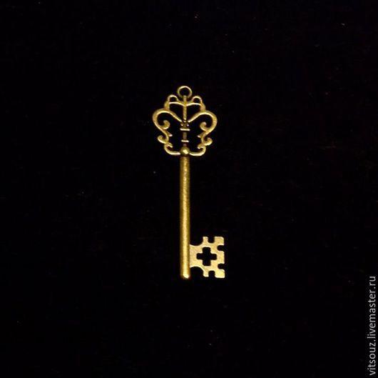 Арт. B45193 Подвеска металлическая  `Ключ` Цвет античная бронза