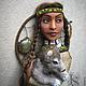 """Броши ручной работы. Брошь """"Волчица"""". Ирина ~Satine~. Интернет-магазин Ярмарка Мастеров. Брошь, индейские мотивы, ловец снов"""