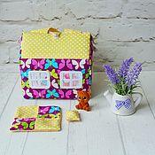 """Кукольные домики ручной работы. Ярмарка Мастеров - ручная работа Кукольный домик-сумочка """"Бабочки"""" для девочки. Handmade."""