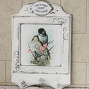 """Для дома и интерьера handmade. Livemaster - original item Ключница панно шебби-шик   """"Нежность"""". Handmade."""