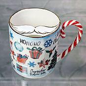 Посуда handmade. Livemaster - original item Mustachioed men`s mug
