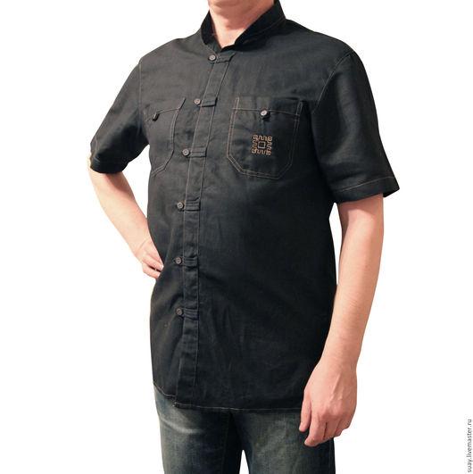 Этническая одежда ручной работы. Ярмарка Мастеров - ручная работа. Купить Мужская сорочка. Handmade. Коричневый, народный стиль