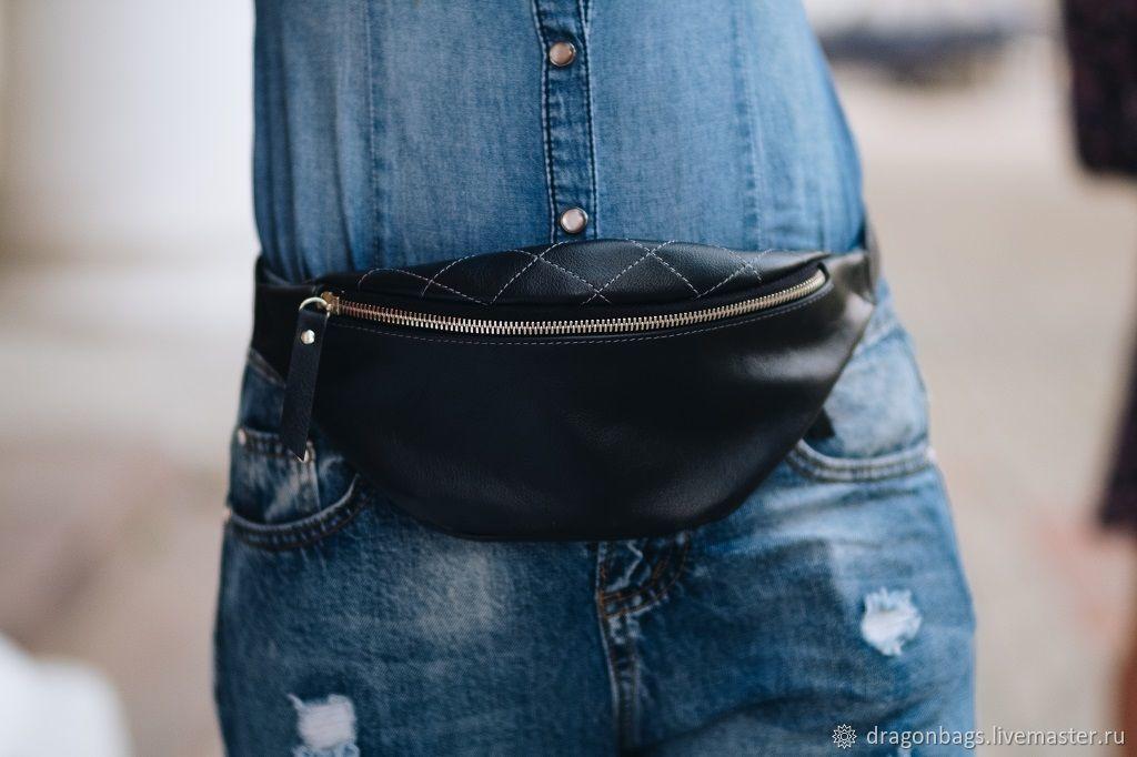 Women's waist bag made of genuine leather 'Lotus', Waist Bag, Yaroslavl,  Фото №1