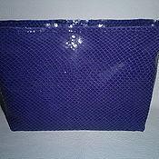 Сумки и аксессуары handmade. Livemaster - original item Cosmetic bag-clutch bag leather