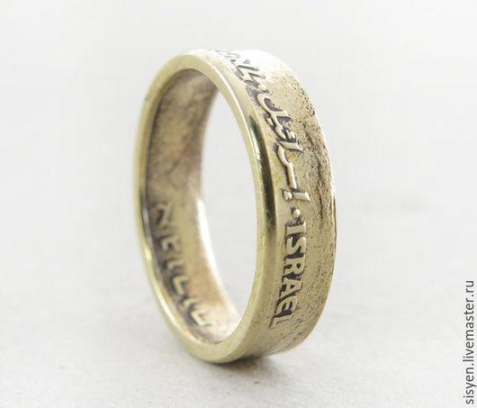 Кольца ручной работы. Ярмарка Мастеров - ручная работа. Купить Кольцо из монеты, Израиль, Coin ring, две стороны. Handmade.