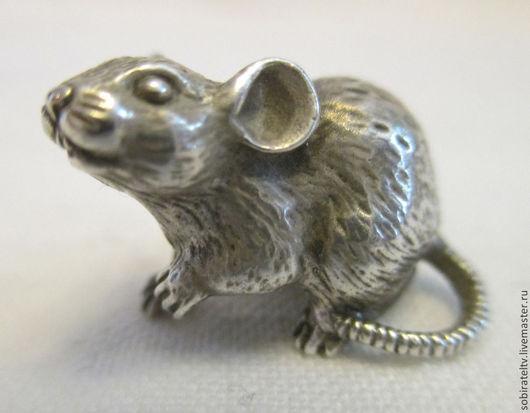 """Статуэтки ручной работы. Ярмарка Мастеров - ручная работа. Купить Серебряная миниатюра """"Мышь"""". Handmade. Серебряный, серебряная миниатюра"""