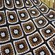 """Текстиль, ковры ручной работы. Ярмарка Мастеров - ручная работа. Купить Плед из шерсти """"Шоколад"""". Handmade. Шоколад, коричневый, спальня"""