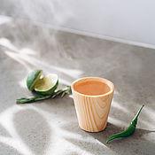 Посуда handmade. Livemaster - original item Wooden glass made of Siberian cedar wood R36. Handmade.