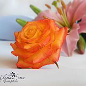 Украшения handmade. Livemaster - original item ring with a rose made of polymer clay