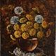 """Картины цветов ручной работы. Ярмарка Мастеров - ручная работа. Купить Картина маслом """"Одуванчики"""". Handmade. Желтый, картина маслом"""