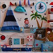 Куклы и игрушки ручной работы. Ярмарка Мастеров - ручная работа Морской бизиборд,развивающая доска. Handmade.