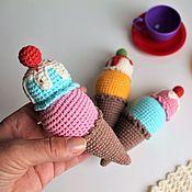 Мягкие игрушки ручной работы. Ярмарка Мастеров - ручная работа Мороженное вязаное.. Handmade.