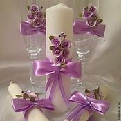 Свадебный салон ручной работы. Ярмарка Мастеров - ручная работа Свадебный комплект Violet. Handmade.