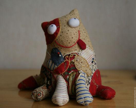 Игрушки животные, ручной работы. Ярмарка Мастеров - ручная работа. Купить Кот текстильный Мечтая о лете. Handmade. Кот, желтый