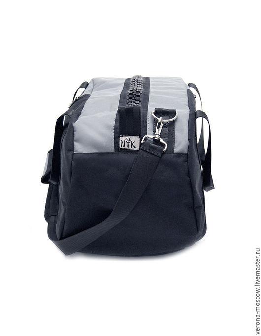 """Спортивные сумки ручной работы. Ярмарка Мастеров - ручная работа. Купить Сумка-рюкзак """"Серая"""". Handmade. Комбинированный, сумка на плечо"""