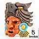 Интерьерные  маски ручной работы. Заказать Маска ацтекского война-орла. Serg Bula. Ярмарка Мастеров. Интерьерный подарок, осина