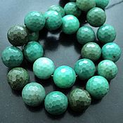 Материалы для творчества handmade. Livemaster - original item Chrysoprase beads faceted beads, 14mm. Handmade.