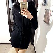 """Одежда ручной работы. Ярмарка Мастеров - ручная работа Вязаное пальто из кашемира  с мехом """"Lady Land"""". Handmade."""