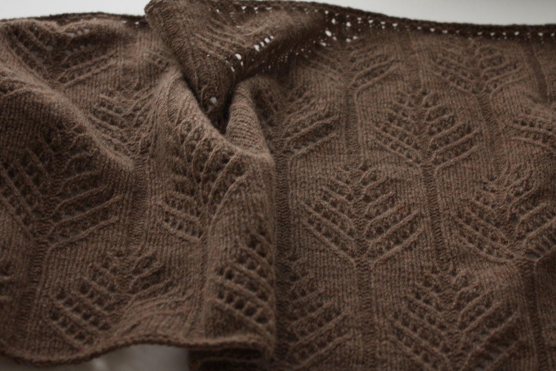 Brown knitted lamb merino wool stole ' Namo', Wraps, Saratov,  Фото №1