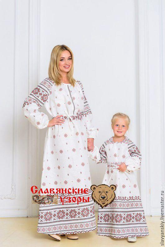 """Одежда для девочек, ручной работы. Ярмарка Мастеров - ручная работа. Купить Платье """"Добромира"""" белая. Handmade. Белый, в пол, для детей"""