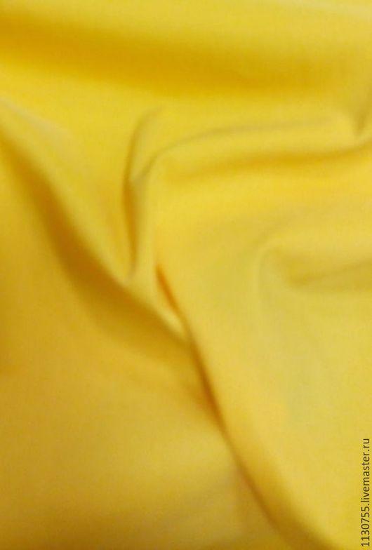 Шитье ручной работы. Ярмарка Мастеров - ручная работа. Купить ткань хлопок стрейч желтая. Handmade. Ткань купить, ткани