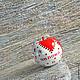 """Статуэтки ручной работы. Яблоки из серии """" Красные узоры"""". Миллионка. Интернет-магазин Ярмарка Мастеров. Красно-белый, подарок"""